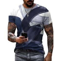 Herr Sommarferie Casual Pullover Toppar Kortärmad T-shirt