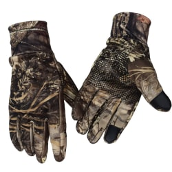 Mens Camo Gloves Winter Ski Snowboard Sports Non Slip Grip Camo-Fingerless M