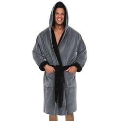 Badrockhandduk med huva för män Casual Soft Lounge Badrock Grey L