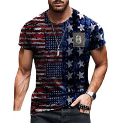 Herr Trendiga Slim Casual T-shirt Sommar Kortärmade Toppar