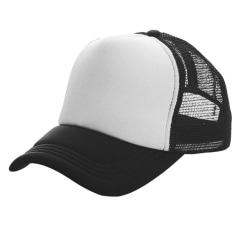 Herr Mesh basebollkeps andningsbar visir utomhus solhatt Black - White