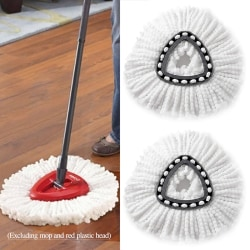 Microfiber Spin MopTriangle Head Home Cleaning Tool White
