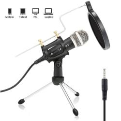 Mobila surfplattamikrofonsatser Sjungande mikrofon Black Sets