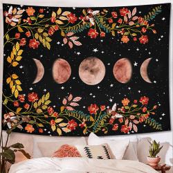 Moon Flower Living Room Bedroom Decorative Tapestry 150*200cm