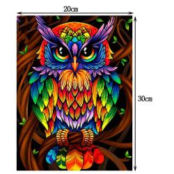 Multicolor Owl DIY 5D Diamond Painting Wall Arts Full Diamond 20*30
