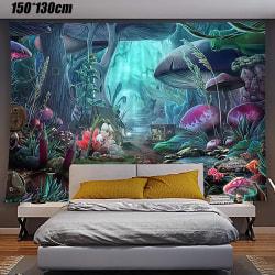 Mushroom Path Decorative Background Hanging Cloth 150*200cm