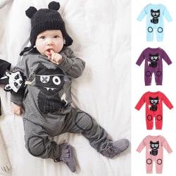 Newborn Baby Printed Pants Autumn Winter Infant grey 70 cm