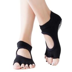 Non-slip Yoga Ballet Pilates Fitness Massage Socks Deep grey 1 pair