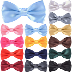 Novelty Mens Adjustable Tuxedo Bowtie Wedding Necktie Deep Blue