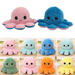 Octopus Doll Children Original Reversible Octopus Plush Toys Green and Pink