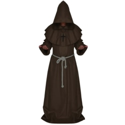Party Anime Cosplay Costumes Sets Medieval Monk Clothes Long Coffee S
