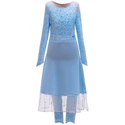 Party Girls Anime Cosplay Frozen 2 Princess Aisha Dress Blue Dress 120cm