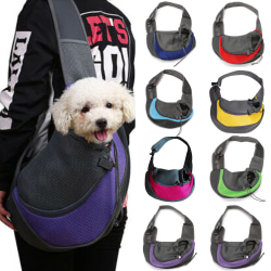 Pet Puppy Dog Mesh Sling Carry Pack Backpack Carrier Bag Green L