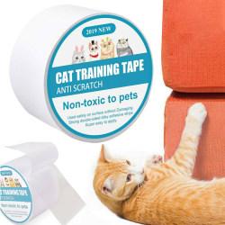 Pets Cat Anti-Scratch Tape Roll Sofa Furniture Guard 5m-6.35cm