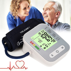 Portable Digital Upper Arm Blood Pressure Moniter Silver