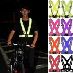 Safety Waist Belt Hi-Viz Florescent Reflective Strap Vest Black