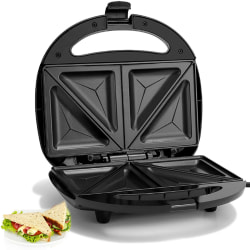 Sandwich Maker Slice Toaster Machine Non-Stick Black