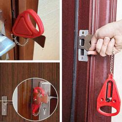 Security Door Lock Handware Safety Tool Red