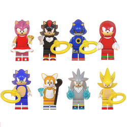 Silver Super Metal Sonic Minifigures Shadow Building Blocks A