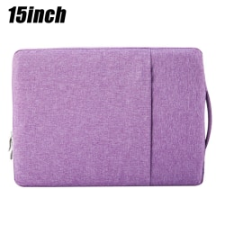 Sleeve Case Pouch Carrying Hand Bag Tablet Laptop Purple 15 inch