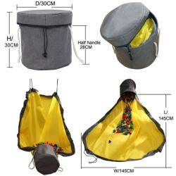 Slideaway Toy Storage Basket Play Mat Organizer Bag 15 cm