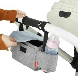 Storage Bag Baby Organiser Mummy Bottle Cup Holder Buggy Grey