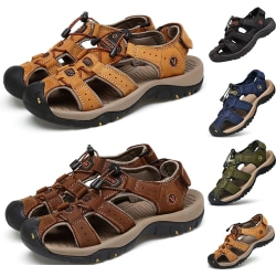 Summer Deodorant Waterproof Sandals Men's Men light brown 47