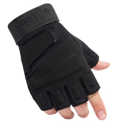 Tactical Half Finger Gloves Mens Army Military Soldier Special Black M