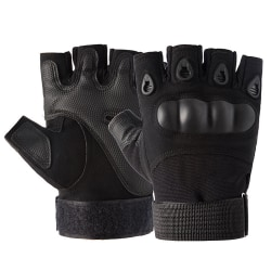 Tactical Hard Knuckle Half Finger Gloves Army Military Airsoft Black M