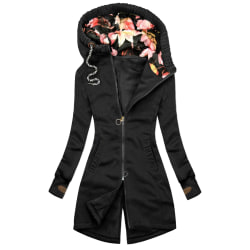 Tempt Office Casual Women Jackets with Jackets Slim Fit Hooded Black S