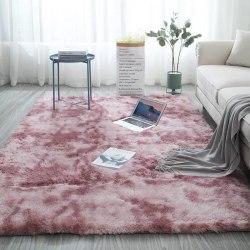 Tie-dye gradient matta i europeisk stil sovrumsmatta Lotus color 50*80cm