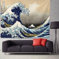 Ukiyoe Wall Decoration Tapestry Waves 200*148CM