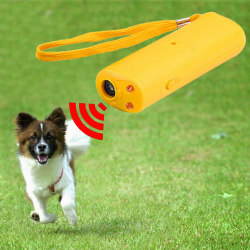 Ultrasonic Dog Repeller and Trainer Device Yellow