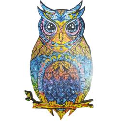 Unidragon Wooden Puzzle Jigsaw Unique Shape Charming Owl Gift Owl A3