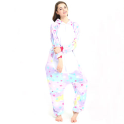 Unisex Adult Onesie Pajamas Plush One Piece multicolor M