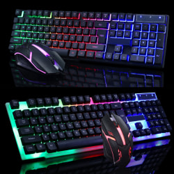 USB Gaming Mouse Gaming Keyboard Combo PC Keyboard Black
