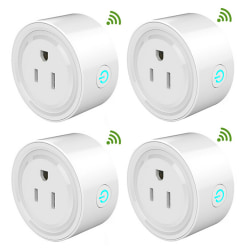 Voice Control Mini Smart Outlet Wifi Socket 4pcs 4pcs