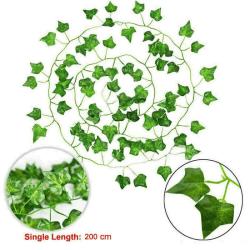 12/24 st Vägghängda Växter Leaf Vine Greenery Artificial Blomma