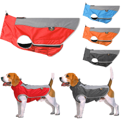 Vattentät sällskapsdjur hund utomhus valp väst kläder jacka