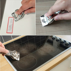 Window Glass Ceramic Hob Scraper Knife Cleaner with 5 Blades