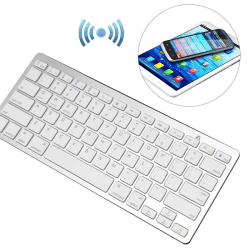 Wireless Bluetooth Keyboard iPad Android Windows Silver grey