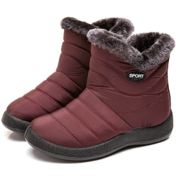 Women Boots New Waterproof Snow Boots red 42