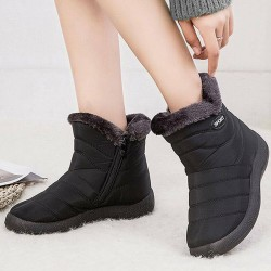 Women Boots New Waterproof Snow Boots black 40