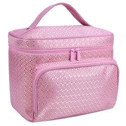 Kvinnors diamantmönster Kosmetisk väska Protable Enkelhet Mode Pink