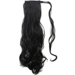 Women Girls Velcro Curled Ponytail Wig realistic hair extension 2# 60CM