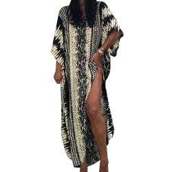 Kvinnor Holiday Beach Caftan Klänningar Täcker Upp för Badkläder Black