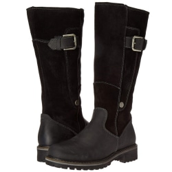 Women Leather Boots Motorcycle Shoes Women black 36