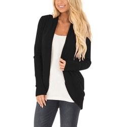Women Long-sleeve Knitted Cardigan Loose Casual Jacket Coats Black XL