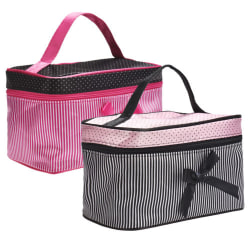 Women Portable Waterproof Brushes Toiletry Bag Black