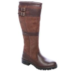 Kvinnor Retro knä höga platta stövlar Vinter ridding skor gul 39